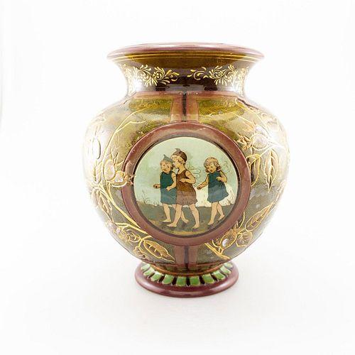 Doulton & Slaters Patent Silicon Chine Ware Jardiniere Vase
