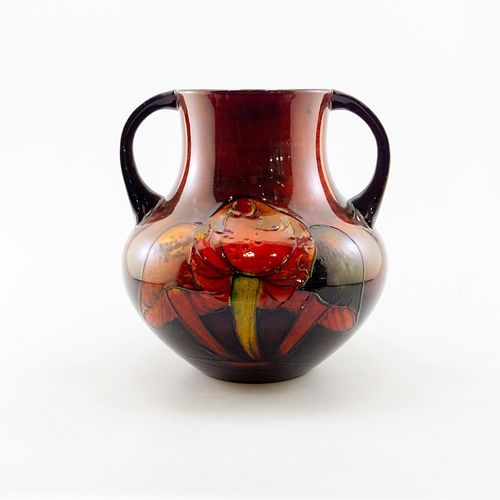 William Moorcroft Art Nouveau Flambe Vase, Claremont
