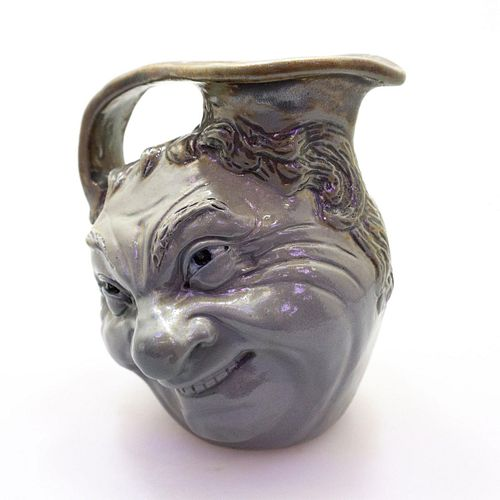 Extremely Rare Martin Brothers Pottery Double-Sided Face Jug