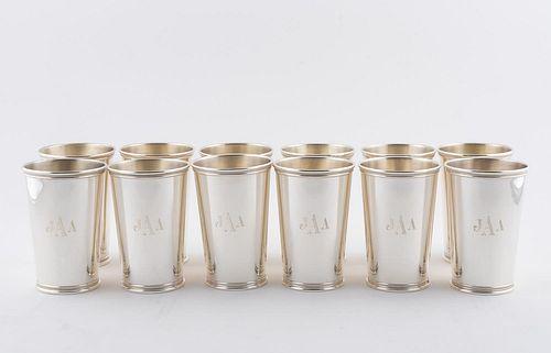SET, 12 TIFFANY & CO. STERLING MINT JULEP CUPS
