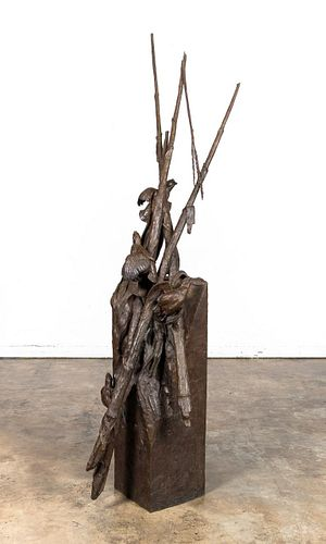 """WALTER MATIA """"IN THE BRANCHES"""" 1996 SIGNED BRONZE"""