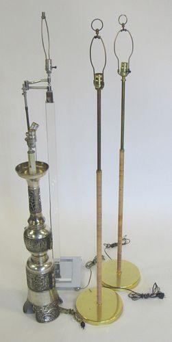 4 Midcentury Standing Lamps.