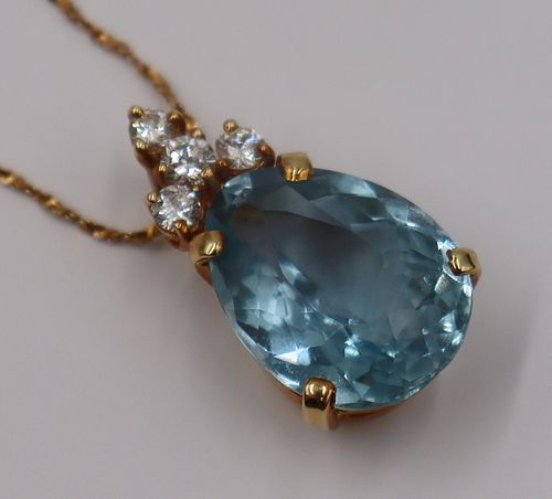 JEWELRY. 18kt Gold, Colored Gem, and Diamond