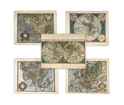 Mercator, Rumhold; Hondius, Jodocus. Important Set of Five Maps