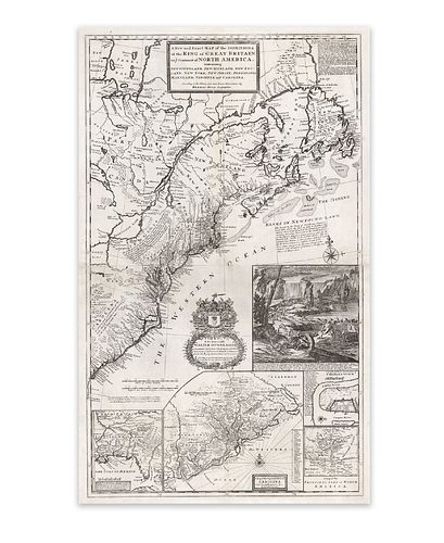 Moll, Hermann. A New and Exact Map of the Dominions of the King of Great Britain on the Continent of North America