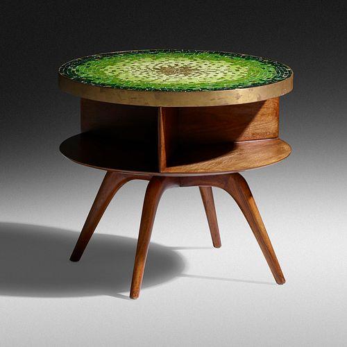 Vladimir Kagan, swivel-top occasional table, model 3421