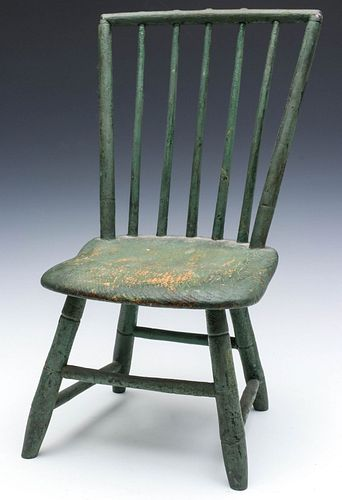 AN EARLY 19TH CENTURY WINDSOR BIRDCAGE CHILD'S CHAIR