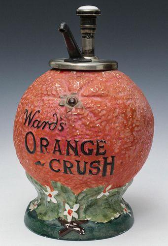 A WARD'S ORANGE CRUSH SODA FOUNTAIN SYRUP DISPENSER