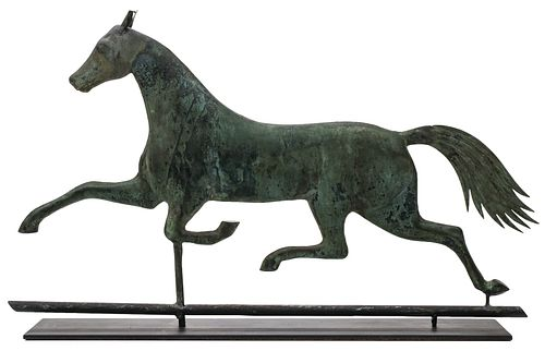 A 19TH CENTURY A.L. JEWELL RUNNING HORSE WEATHER VANE