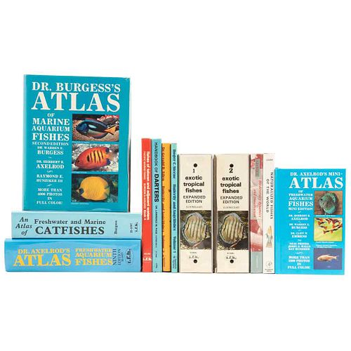 Libros sobre Peces. An Atlas of Freshwater and Marine Catfishes/ Dr. Axelrod's Atlas of Freshwater Aquarium Fishes... Piezas: 12.