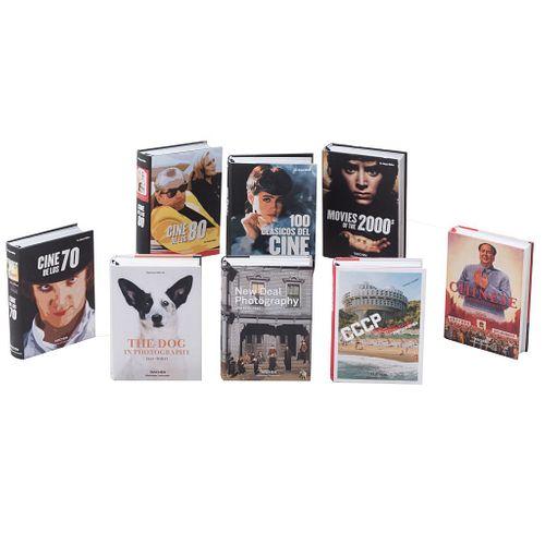LOTE DE LIBROS SOBRE CINE Y FOTOGRAFÍA EDITORIAL TASCHEN. Autores varios.China: 2015, 2016, 2017, 2018. Piezas: 8.