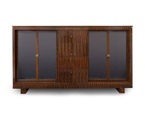 A German Art Deco Style Maccassar Cabinet