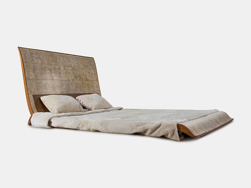 Attributed to Dominique (Andre Domin and Marcel Genevriere) (French, 1883-1962 | French, 1885-1967) Bed