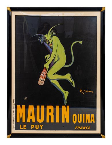 Leonetto Cappiello (Italian/French, 1875-1942) Maurin Quina