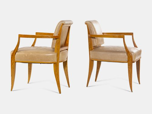 After Emile-Jacques Ruhlmann (French, 1879-1933) Pair of Armchairs