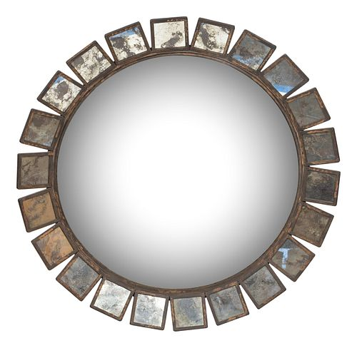 A Contemporary Convex Mirror Diameter 44 inches.