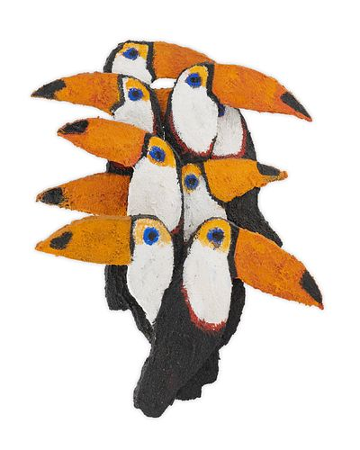 Hunt Slonem (American, b. 1951) Toucans
