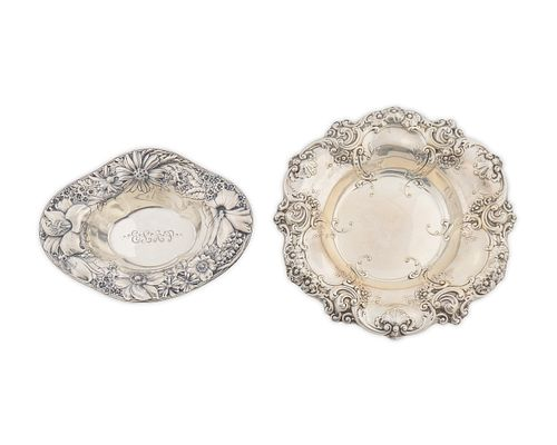 Two American Silver Oval Dishes