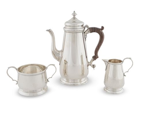 An American Silver Three-Piece Coffee Set