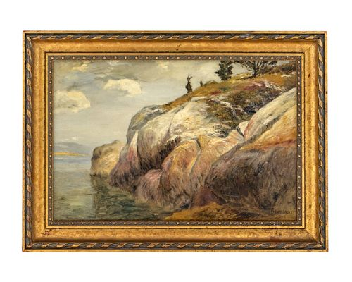 Albert Babb Insley (American, 1842-1937) Along the Maine Coast