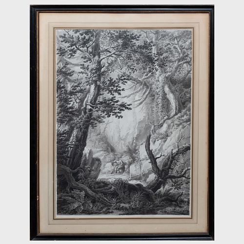 James Forrester (1727-1775): Waterfall; and A Hermit in the Forest