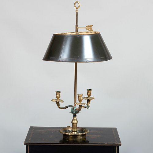Louis XV Style Gilt-Metal Bouillotte Lamp with a Tôle Shade