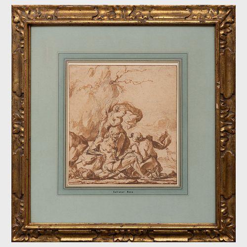 Salvator Rosa (1615-1673): Three Figures