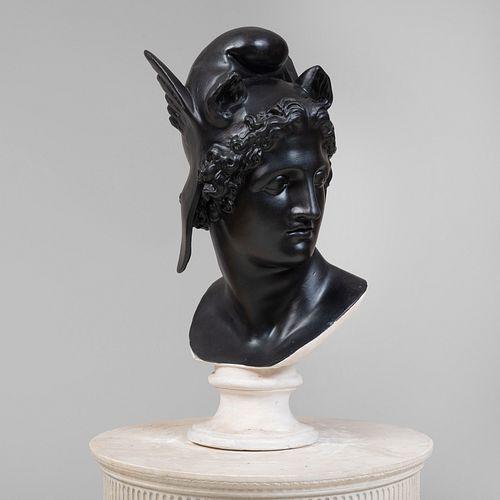 Ebonized Plaster Bust of Mercury
