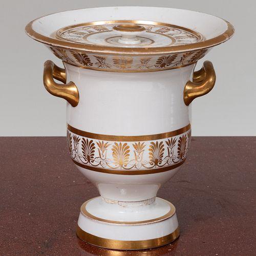 Paris Porcelain Gilt-Decorated Vase and Cover