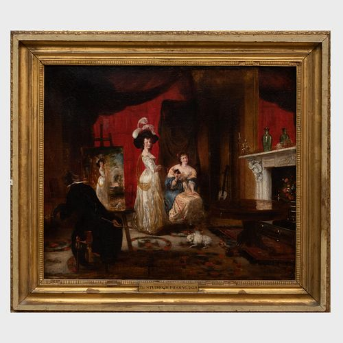 Attributed to Henry James Pidding (1797-1864): The Studio