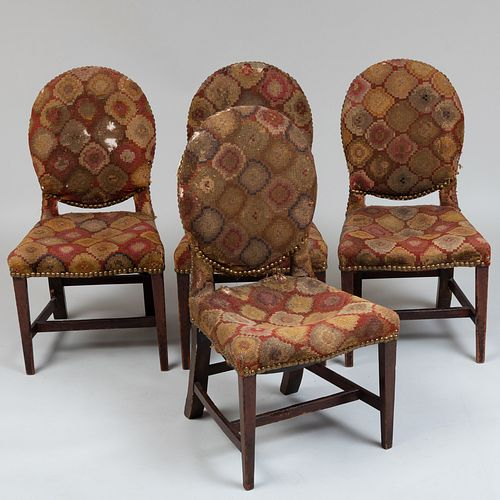Four George III Mahogany Dining Chairs