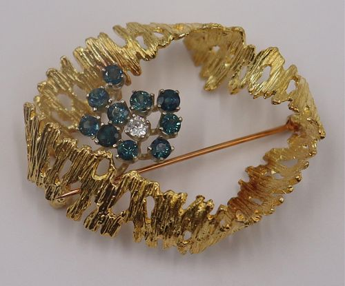 JEWELRY. Vintage 14kt Gold, Sapphire, and Diamond
