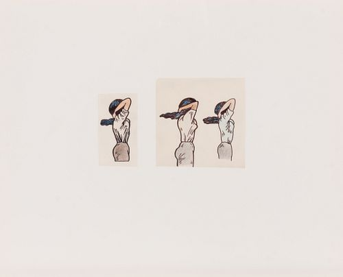 Christina Ramberg (American, 1946-1995) Untitled (Tying Up Hair), c. 1970 (a pair of works)
