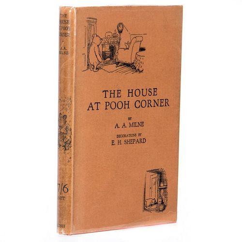 Fine First British Edition of Pooh Corner in Dust Jacket