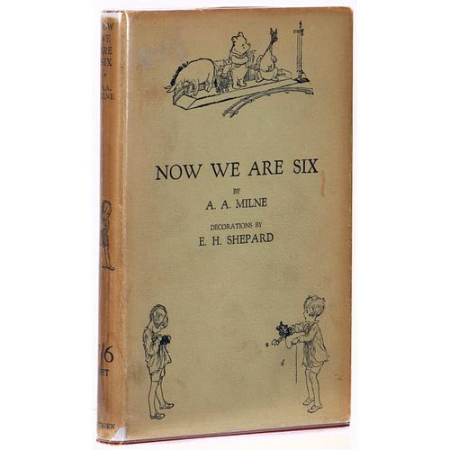 Fine First British Edition of Now We are Six in Dust Jacket