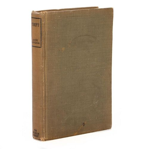 Signed First Edition of scarce Jack London title, Theft