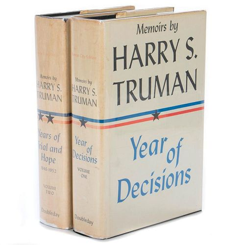 Memoirs Signed by Harry S. Truman, 2 vols