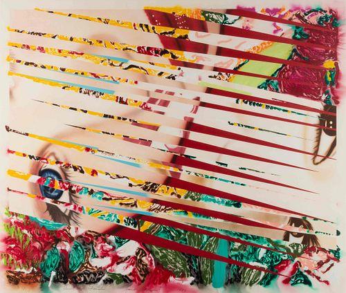 James Rosenquist (American, 1933-2017) Flowers & Females, 1986