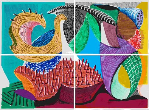 David Hockney (British, b. 1937) Four Part Splinge, 1993