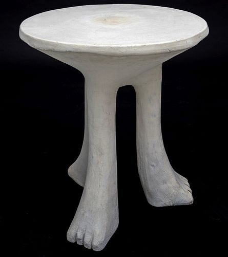 JOHN DICKINSON ENAMELED PLASTER 'AFRICAN' TABLE