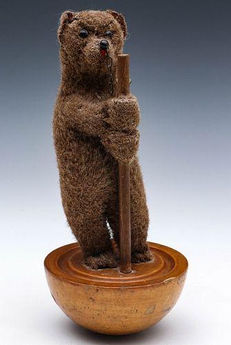 A VERY RARE, ORIGINAL STEIFF TUMBLING BEAR CIRCA 1906