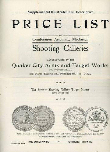 A QUAKER CITY 14 SHOOTING GALLERY TRADE CATALOG