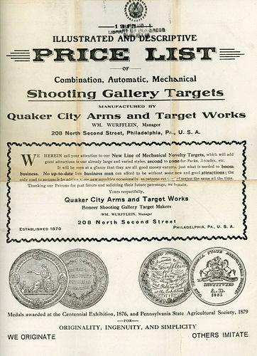 QUAKER CITY SHOOTING GALLERY TRADE CATALOGS