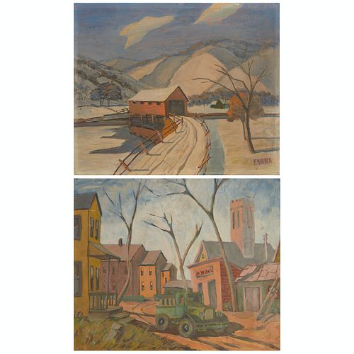 F. W. Bock Double Painting on Board
