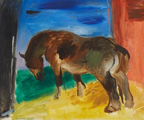 Cameron Booth Chestnut Horse Oil on Canvas