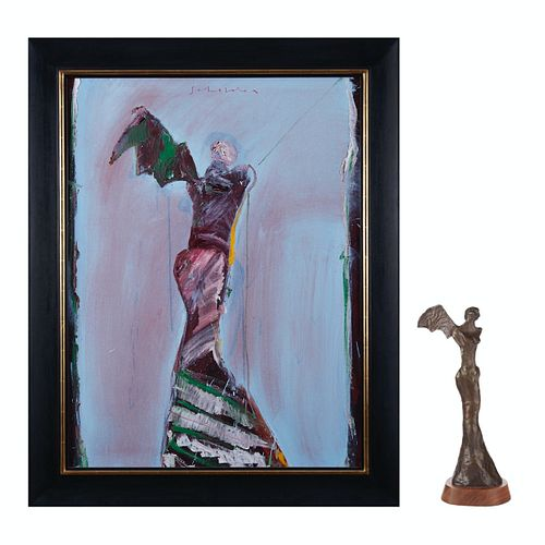 Fritz Scholder Painting & Bronze Sculpture