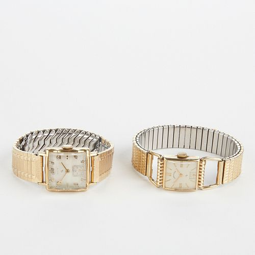 Grp: 2 Gold Lord Elgin Men's Wristwatches