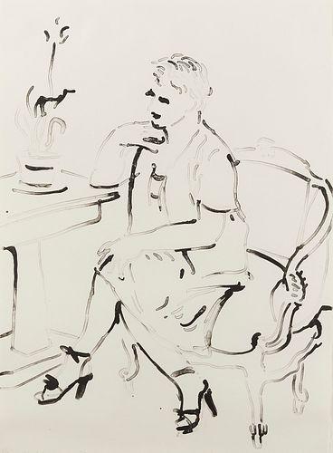"David Hockney ""Celia Elegant"" Lithograph"