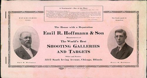 HOFFMANN & SON SHOOTING GALLERY TRADE CATALOG, C. 1916