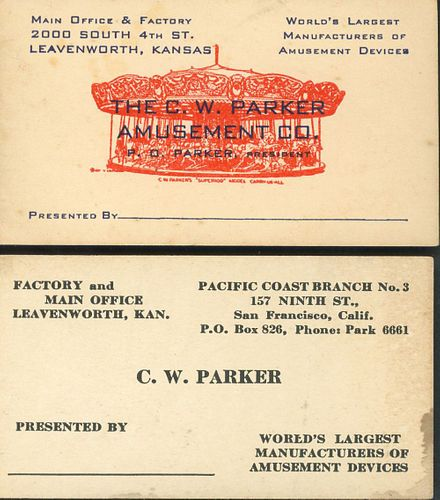 A COLLECTION OF C.W. PARKER EPHEMERA